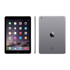 Apple iPad Air 16GB Flash, 1 GB RAM,  Wi-Fi Tablet mit 9.7 Zoll IPS Display - A1474, Grau, A-Ware, Front- Seite- und Rückansicht