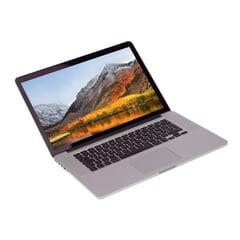 """Apple MacBook Pro 11.3 A1398,  i7-4960HQ 2.6GHz, 15,4"""" Retina Display 2.880 x 1.800, 16GB DDR3L, 512GB SSD, Silber, B-Ware, Ansicht von Vorne"""