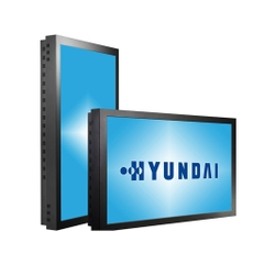 Produktname: Hyundai D465MLI Indoor Public Display; Display-Typ: LCD TFT Public Display, LCD TFT | PVA, 43 Zoll;Auflösung: 1920 x 1080; Ansicht: von linker Seite;