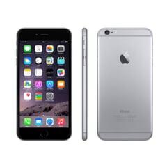 Apple iPhone 6, 4.7 Zoll, 1334x750, Retina, 16 GB, 8.0 MP, iOS 8, Fingerabdrucksensor im Home-Button, Spacegrau, A-Ware, Ansicht von Vorne, Seite und hinten