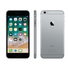 Apple iPhone 6s Plus, 5,5 Zoll / 13,97 cm, 1.920 x 1.080 Pixel / Full HD, IPS-Display,  A9 Dual-Core, 2 GB RAM, 64 GB Speicher, Kamera 12 MP, Grau, A-Ware,  Front- Seite- und Rückansicht
