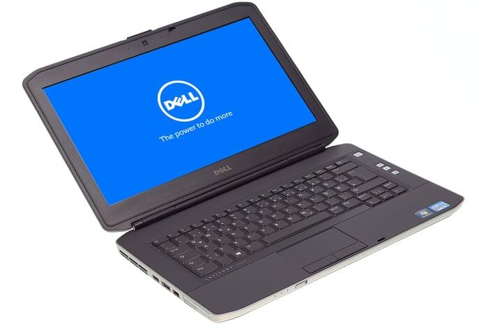 Dell Latitude E5430, 14-Zoll-Display (1366x768), i5-3210M, 4GB RAM, 128GB SSD, schwarz, A-Ware, Ansicht von vorne links
