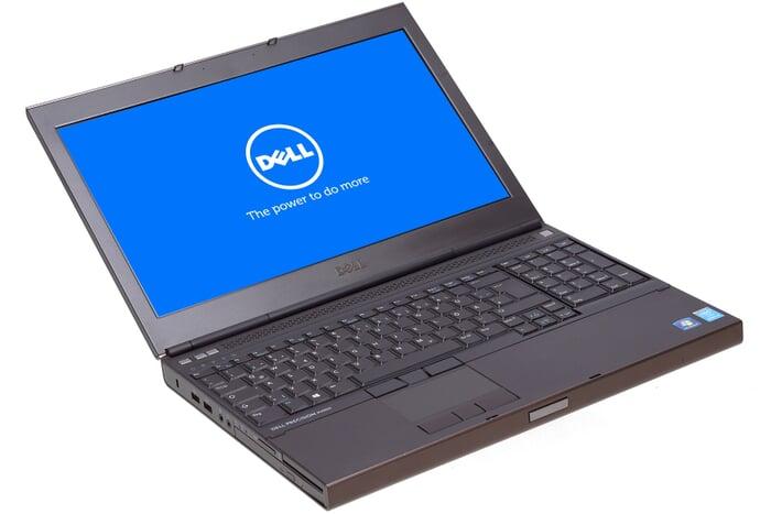 Dell Precision M4800, 15-Zoll-Display (1920x1080), i7-4800MQ, 16GB RAM, 256GB SSD, schwarz, B-Ware, Ansicht von vorne