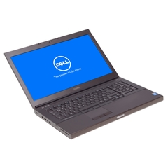 "Dell Precision M6800,  i7-4800MQ, 17,3"" 1600x900 HD+ LED, 256GB SSD, 16GB DDR3, Schwarz, A-Ware, Ansicht von Vorne"