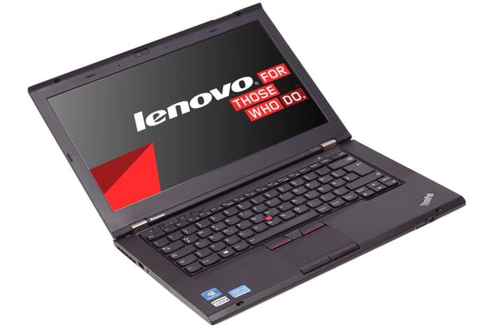 Lenovo ThinkPad T430s, 14-Zoll-Display (1366x768), i5-3320M, 8GB RAM, 180GB SSD, schwarz, A-Ware, Ansicht von vorne